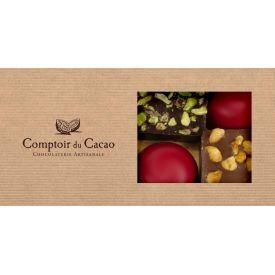 Šokolado rinkinys COMPTOIR du CACAO, su langeliu, 72 g