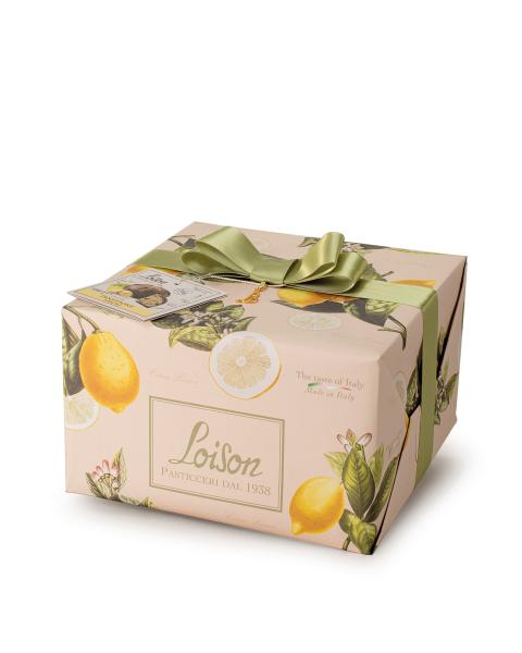 Itališkas pyragas Panettone LOISON su citrinomis ir vanile, 1000 g
