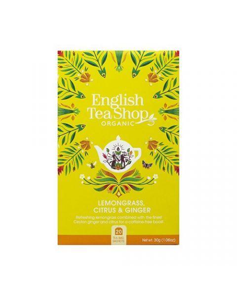 Ekologiška arbata ENGLISH TEA SHOP Lemongrass ginger and citrus fruits, 20 maišelių