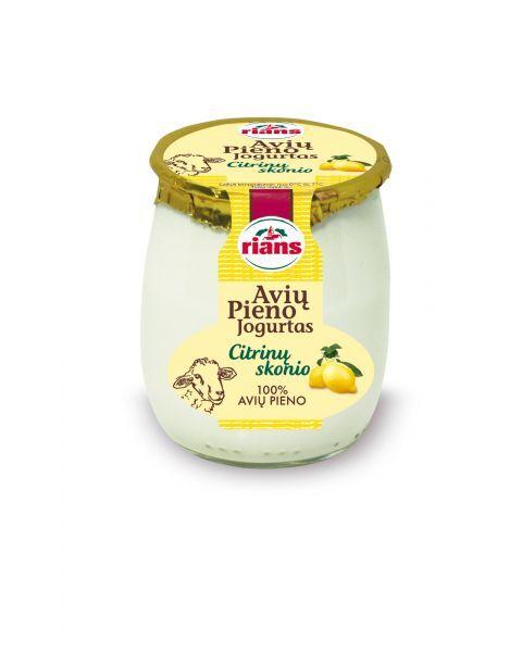 Avių pieno jogurtas RIANS su citrina, 115g
