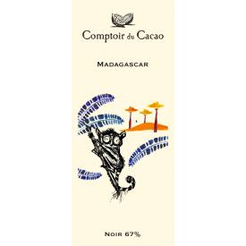 Juodasis šokoladas 67% COMPTOIR du CACAO Madagascar, 80 g