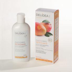 Ekologiškas, intensyviai drėkinantis mangų ir abrikosų kūno aliejus  DELIDEA BIO, 100 ml