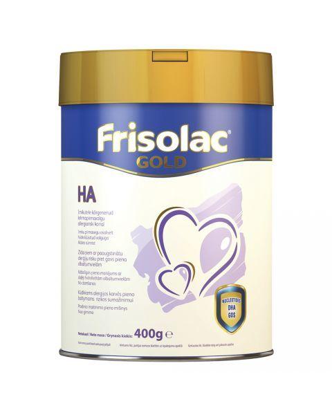 Pradinio maitinimo mišinys Frisolac gold HA alergijos pieno baltymams rizikos sumažinimui kūdikiams 0-12 mėn. FRIESLAND CAMPINA, 400 g
