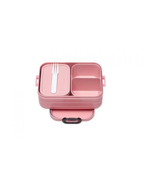 Vidutinio dydžio maisto dėžutė su skyreliais MEPAL Bento rožinė, 1 vnt.