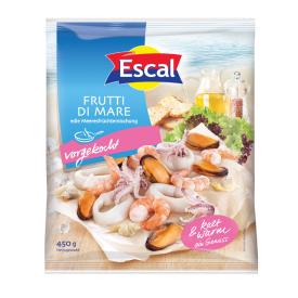 Šaldytas jūros gėrybių kokteilis, apvirtas, glazūruotas ESCAL, 450g