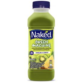 Obuolių, kivių ir ananasų skonio glotnutis NAKED green machine, 360ml