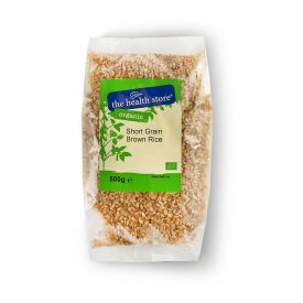 Ekologiški trumpagrūdžiai rudieji ryžiai THS ORGANIC, 500 g