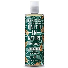 Šampūnas vyrams FAITH IN NATURE su melsvaisiais kedrais, 400 ml