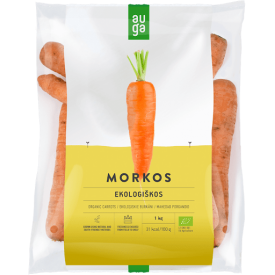 Ekologiškos morkos (fasuotos), 500g