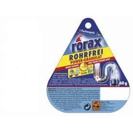 Granuliuotas nutekamųjų vamzdžių valiklis RORAX Power-granulat, 60g