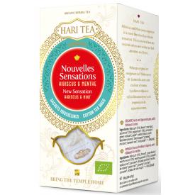 """Ekologiška ajurvedinė arbata HARI TEA """"New Sensation"""" Hibiscus&Mint, 10 maišelių"""