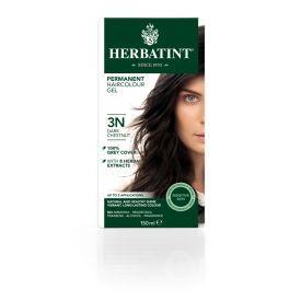Plaukų dažai be amoniako HERBATINT su ekologiškais ekstraktais, 3N tamsus kaštonas, 150 ml