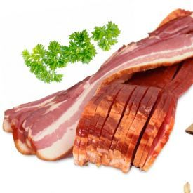 Ekologiška rūkyta ir vytinta kiaulienos šoninė BIOLAND
