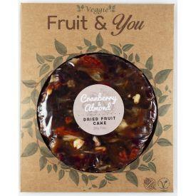 Spanguolių ir migdolų pyragas FRUIT&YOU,200g