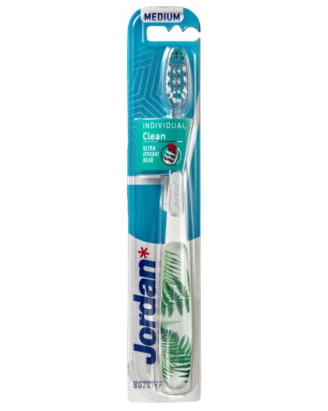 Dantų šepetėlis JORDAN Individual Clean (vidutinio minkštumo), 1 vnt.