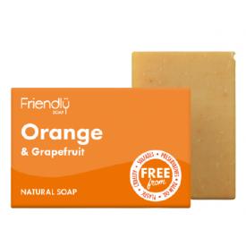Veganiškas muilas su apelsinais ir greipfrutais FRIENDLY, 95 g