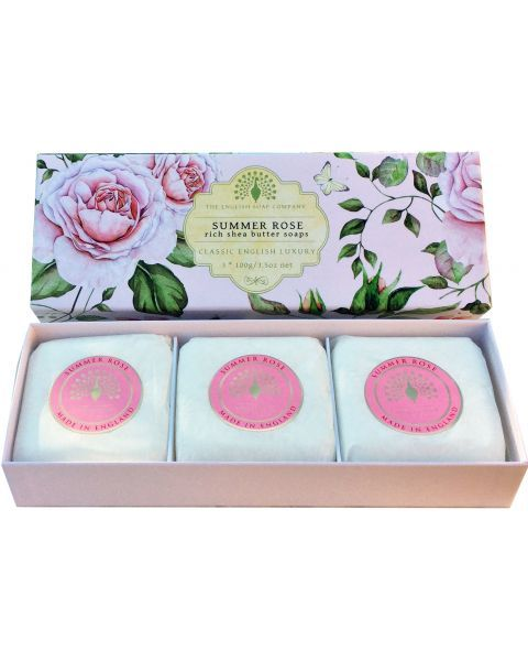 Muilas ENGLISH SOAP Summer Rose, 3 vnt. po 100 g