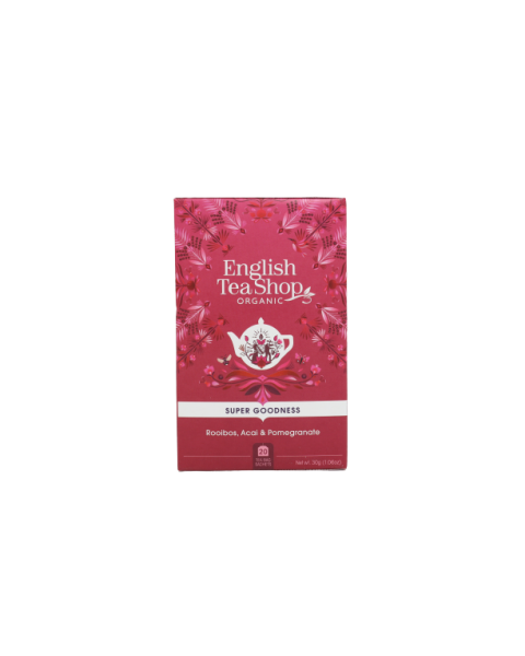 Ekologiška arbata ENGLISH TEA SHOP Rooibos, Acai & Pomegranate, 20 maišelių