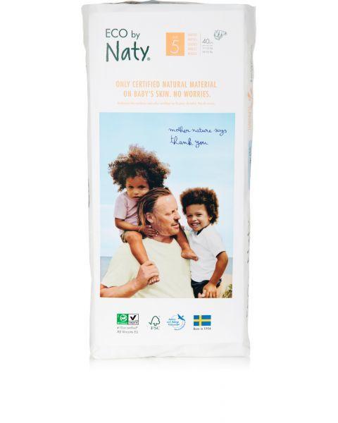 Sauskelnės EKO by NATY 5 Junior Plus 11-25 kg vaikams, 40 vnt. 2
