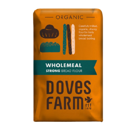 Ekologiški, rupaus malimo miltai duonai DOVES FARM Strong, 1,5 kg