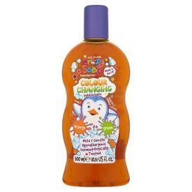 Spalvą keičiantis vonios putų skystis (mėlyna–raudona) KIDS STUFF Crazy Soap, 300 ml