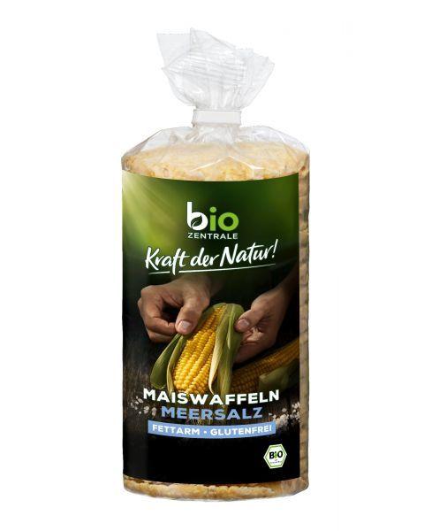 Ekologiški kukurūzų trapučiai BIOZENTRALE su jūros druska, 120g