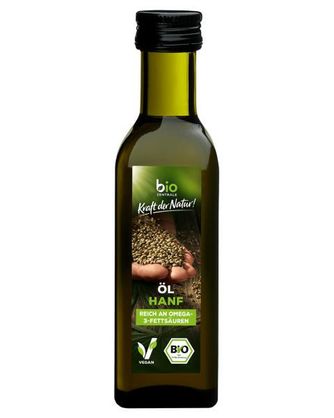 Ekologiškas šalto spaudimo kanapių aliejus BIOZENTRALE, 100 ml