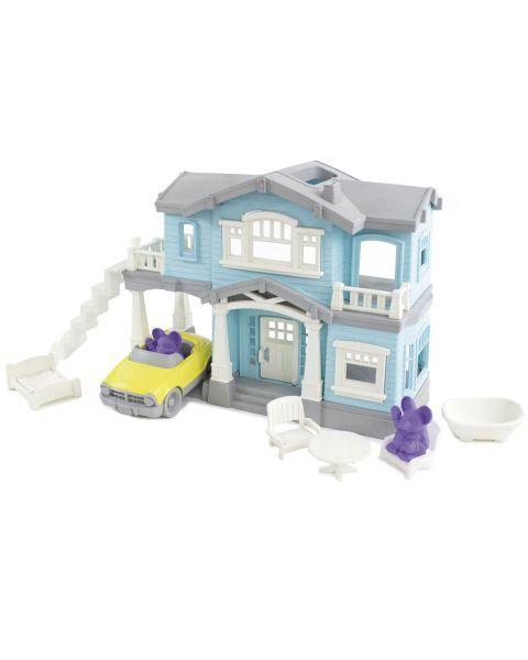 """Žaislų rinkinys """"Žydras namas"""" GREEN TOYS ™ (10 dalių), 1 vnt. 6"""