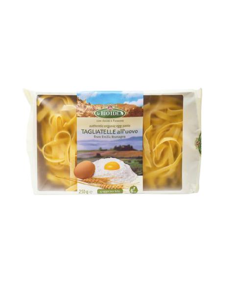 Ekologiški makaronai su kiaušiniais LA BIO IDEA Tagliatelle, 250 g