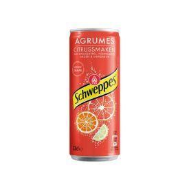 Gazuotas gėrimas SCHWEPPES agrumes citrusinių vaisių skonis, 330 ml