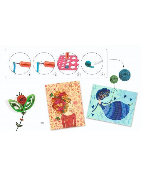 Kūrybinis rinkinys vyresniems vaikams DJECO Petticoat Scrolls (DJ08622) 2