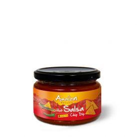 Ekologiškas aštrus padažas AMAIZIN Salsa Hot (Chip Dip), 260g