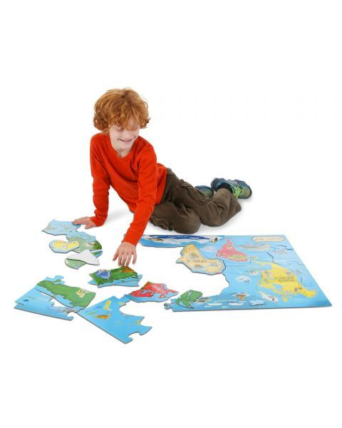 "Dėlionė MELISSA & DOUG "" World Map"", 1 vnt. 3"