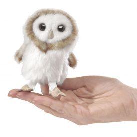 """Minkštas piršto žaisliukas FOLKMANIS® """"Paprastoji pelėda"""" (10 cm), 1 vnt."""