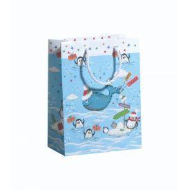 Dovanų maišelis ZOEWIE Christmas Whale (17x9.2x22.5 cm), 1 vnt.