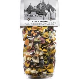 Spalvoti makaronai BELLA ITALIA, kaspinėliai Fantasia, 250 g