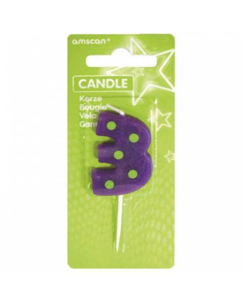 Žvakutė-skaičiukas 3 AMSCAN Dots & Stripes, 7.6 cm