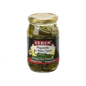 Konservuoti aitrieji žalieji pipirai CEREN, 330 g