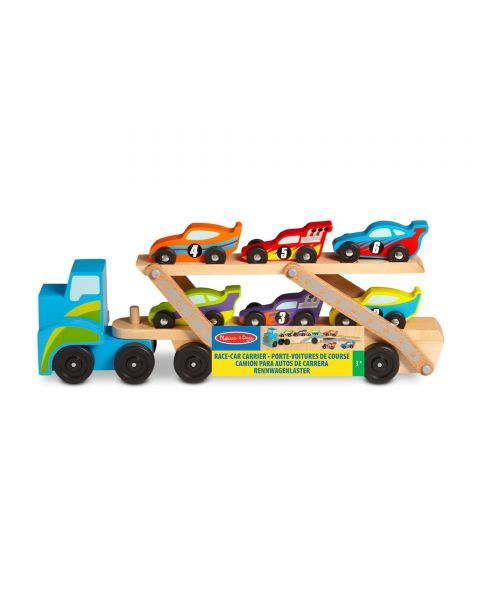 Medinis lenktyninių automobilių sunkvežimis MELISSA & DOUG, 1 vnt.