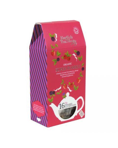 Ekologiška arbata ENGLISH TEA SHOP Super berries, 16 maišelių