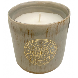 CANDELE FIRENZE keramikinė žvakė pilka, 65h, 1 vnt