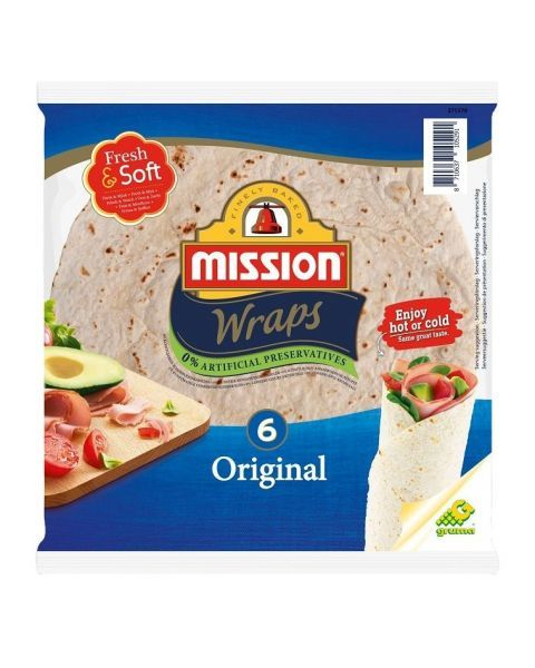 Tortilija Original MISSION FOOD (6 vnt), 24cm, 370g