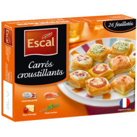 "4-ių rūšių šaldytų krepšelių rinkinys""CARRES CROUSTILLANTS"" ESCAL, 300 g"