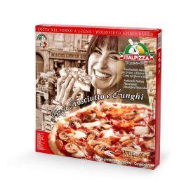 Pica su kumpiu ir grybais ITALPIZZA, 370g