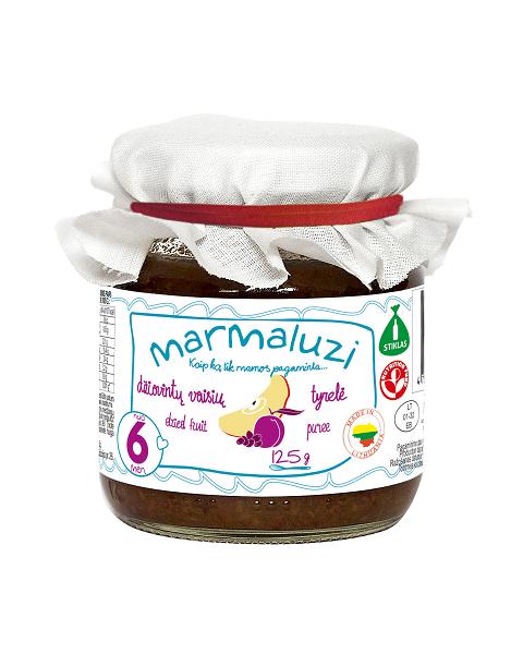 Džiovintų vaisių tyrelė MARMALUZI kūdikiams nuo 6 mėn., 125 g