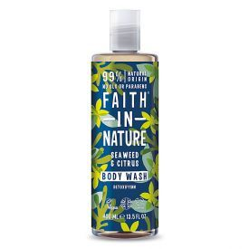 Dušo želė ir vonios putos FAITH IN NATURE su jūros dumbliais, 400 ml