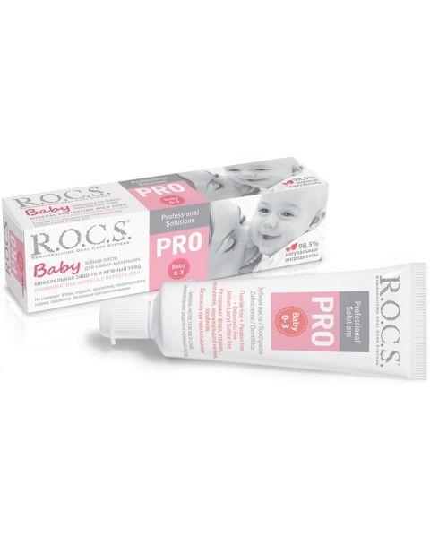 Dantų pasta kūdikiams R.O.C.S PRO Baby, 0-3 metų vaikams, 45 g