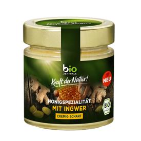 Ekologiškas žiedų medus BIOZENTRALE su imbieru, 250 g