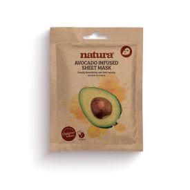 Intensyviai maitinanti lakštinė veido kaukė NATURA su avokado aliejumi, 22 ml