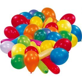 Spalvingi balionai RIETHMULLER, 50 vnt.
